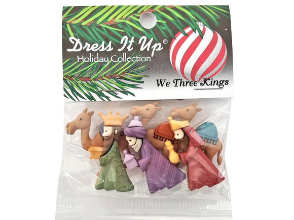 Christmas We Three Kings Novelty Buttons Jesse James Dress it Up Theme Pack