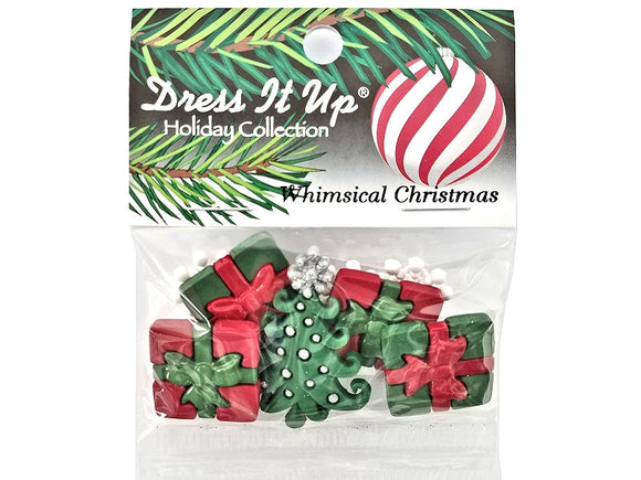 Whimsical Christmas<br> Novelty Buttons<br> Dress It Up Theme Pack