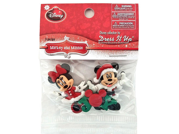 Christmas Disney Mickey and Minnie Buttons Jesse James Dress it Up Theme Pack