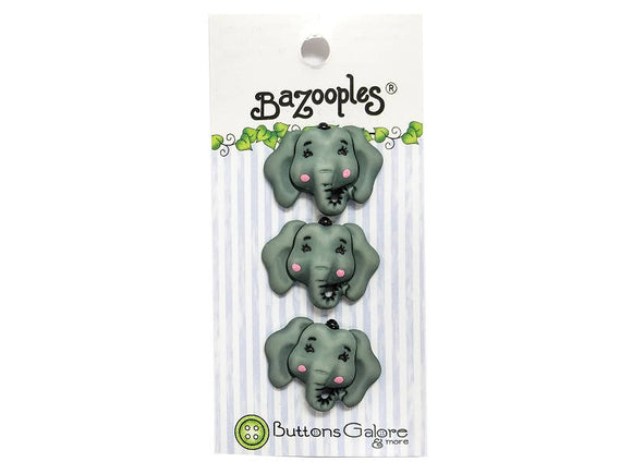 Buttons Galore Elsie the Elephant Novelty Buttons Bazooples Collection