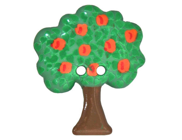 Dill Apple Tree 1 and 3/16 inch Novelty Button Green Color