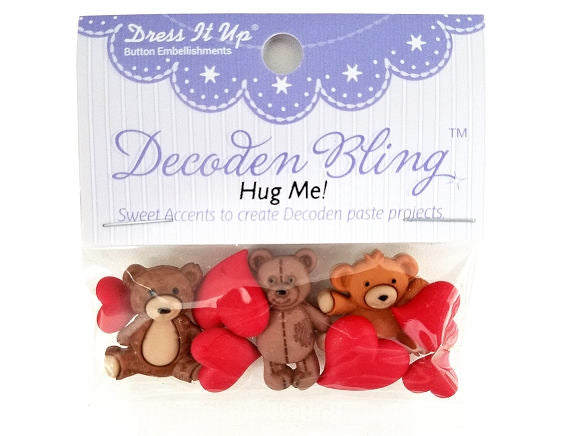 Hug Me Teddy<br> Novelty Buttons<br> Dress It Up Theme Pack