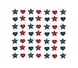 Christmas Garland<br> Novelty Buttons<br> Dress It Up Theme Pack