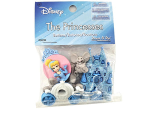 Disney Cinderella Combo<br> Novelty Buttons<br> Dress It Up Theme Pack