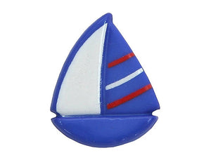 Dill Sailboat 11/16 inch Novelty Button Blue Color
