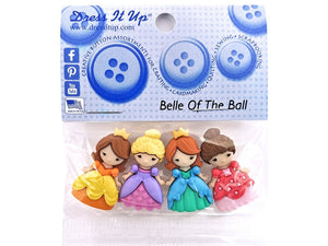 Belle of the Ball<br> Novelty Buttons<br> Dress It Up Theme Pack
