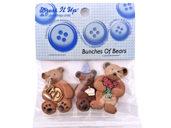 Bunches of Bears<br> Novelty Buttons<br> Dress It Up Theme Pack