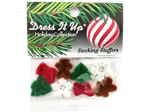 Christmas Stocking Stuffers<br> Novelty Buttons<br> Dress It Up Theme Pack