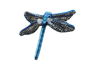 Dill Dragonfly 1 inch Novelty Button Blue Color