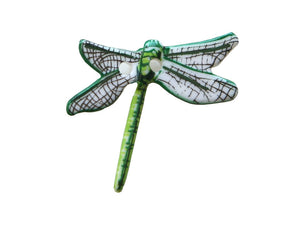 Dill Dragonfly Large Novelty Button Green Color