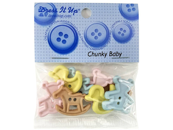 Chunky Baby Toys<br> Novelty Buttons<br> Dress It Up Theme Pack