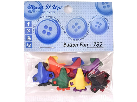 Airplanes<br> Novelty Buttons<br> Dress It Up Theme Pack