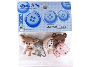 Animal Cuties<br>  Novelty Buttons<br> Dress It Up Theme Pack