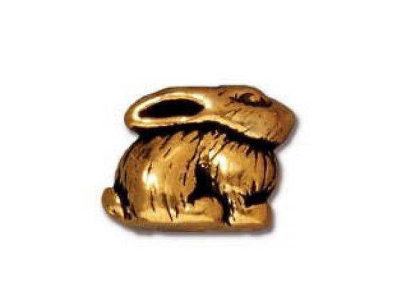 TierraCast Bunny 3/8 inch Gold Plated Pewter Bead