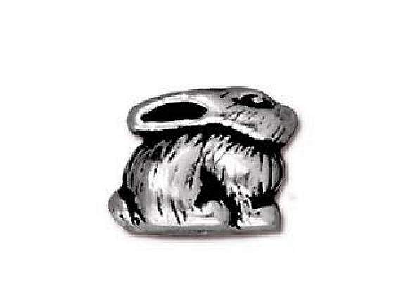 TierraCast Bunny 3/8 inch Silver Plated Pewter Bead