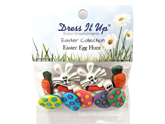 Easter Egg Hunt<br> Novelty Buttons<br> Dress It Up Theme Pack