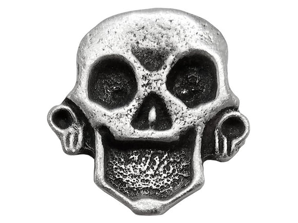 TreasureCast Pirate Skull 11/16 inch Pewter Button Antique Silver Color