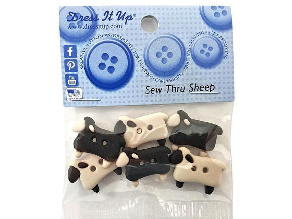Sew Thru Sheep <br> Novelty Buttons<br>  Dress It Up Theme Pack