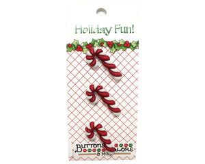 Buttons Galore Christmas Candy Canes Novelty Buttons Holiday Fun Collection