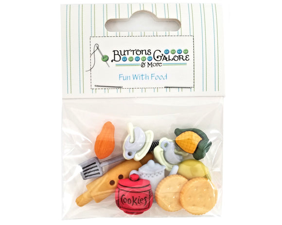 Buttons Galore Kitchen Novelty Buttons Fun With Food Collection