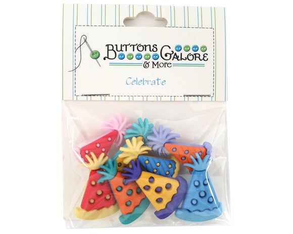 Buttons Galore Party Hats Novelty Buttons Celebrate Collection