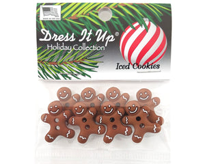 Christmas Iced Cookies Baking Novelty Buttons Dress It Up Theme Pack