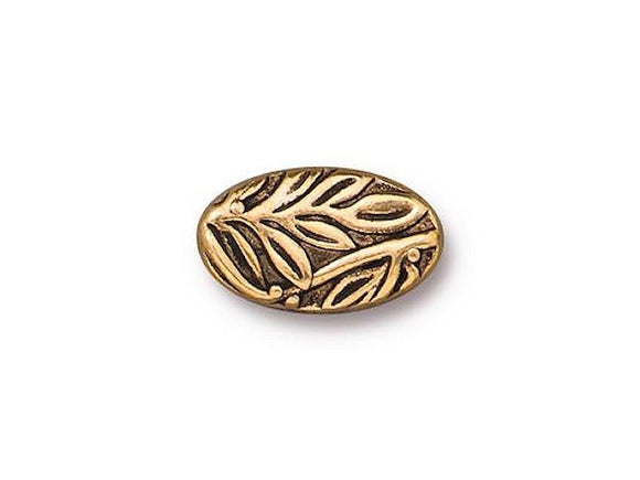 TierraCast Botanical 1/2 inch Pewter Bead Gold Plated