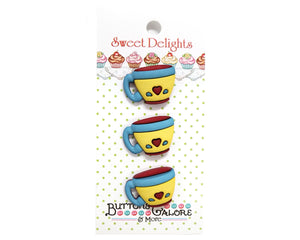 Buttons Galore Coffee Cups Novelty Buttons Sweet Delights Collection