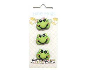 Buttons Galore Froggy Frog Novelty Buttons Baby Hugs Collection