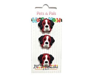 Buttons Galore St. Bernard Dogs Novelty Buttons Pets & Pals Collection