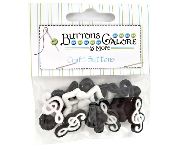 Buttons Galore Music Notes Novelty Buttons Buttons & Flatbacks