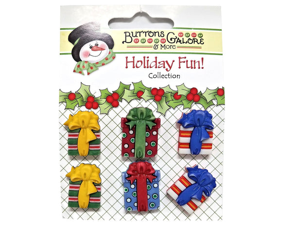 Buttons Galore Christmas Presents Novelty Buttons Holiday Fun Collection