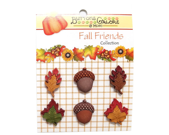 Buttons Galore Season of Change Novelty Buttons Fall Friends Collection