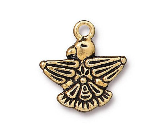 TierraCast Thunderbird 3/4 inch Pewter Charm Gold Plated