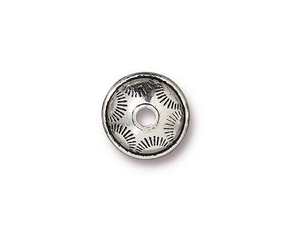 TierraCast Western 3/8 inch Pewter Bead Silver Plated