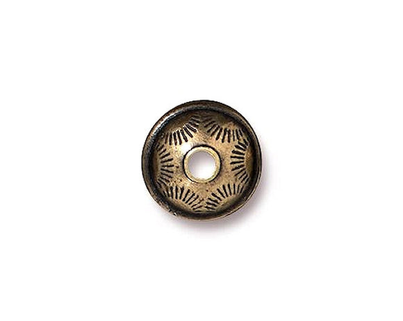 TierraCast Western 3/8 inch Pewter Bead Brass Plated