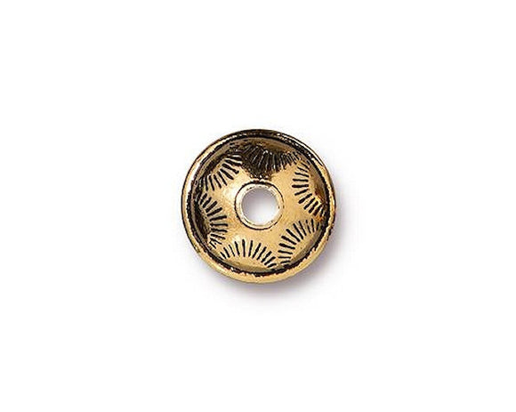 TierraCast Western 3/8 inch Pewter Bead Gold Plated