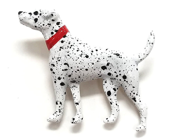 Susan Clarke Dalmatian Dog 1 inch  Metal Button White Color