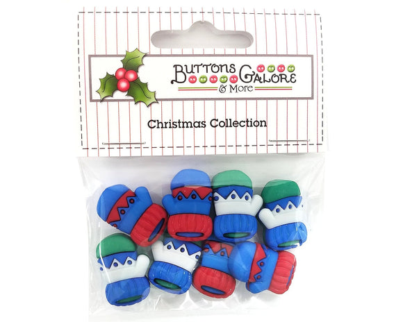 Winter Warm Mittens Novelty Buttons Buttons Galore Christmas Collection