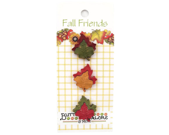 Maple Leaves Novelty Buttons Buttons Galore Fall Friends Collection