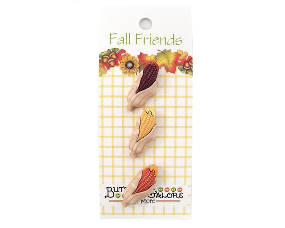 Indian Corn Novelty Buttons Buttons Galore Fall Friends Collection