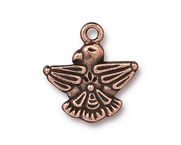 TierraCast Thunderbird 3/4 inch Pewter Charm Copper Plated
