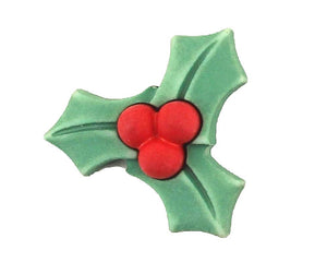 Christmas Holly Novelty Button Buttons Galore Holiday Button