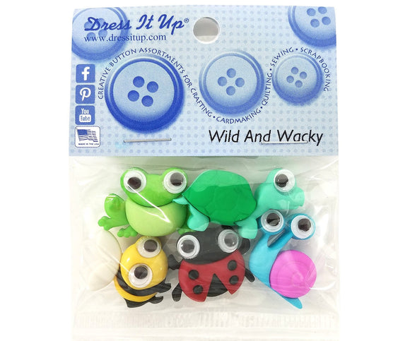 Wild and Wacky Novelty Buttons Dress it Up Theme Pack