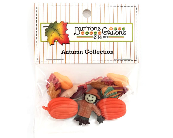 Pumpkin Pickin' Novelty Buttons Buttons Galore Autumn Collection