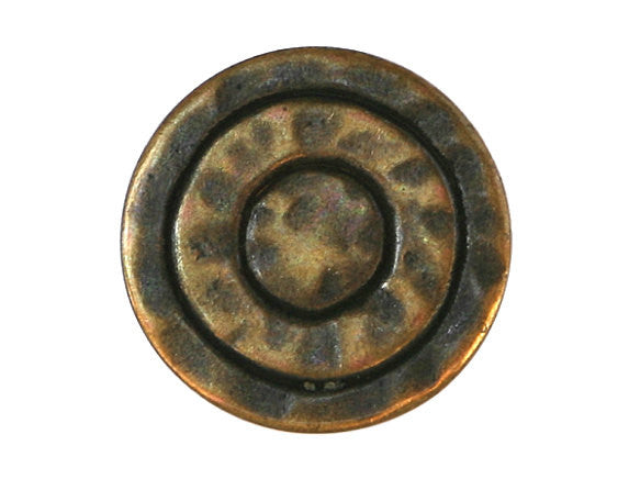 Mystic Rings 3/4 inch Metal Button Antique Brass Color