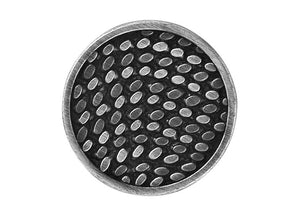 Dashes 7/8 inch Metal Button Silver / Black Color