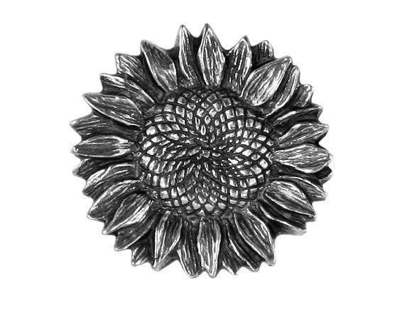 Danforth Sunflower 7/8 inch Pewter Pewter Button Antique Silver Color