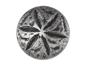 Sand Dollar 1 inch Metal Button Antique Silver Color