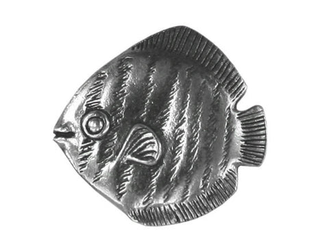 Danforth Tropical Fish 7/8 inch Pewter Button Antique Silver Color